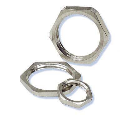 Heyco® Nickel-Plated Brass Locknuts Metric Thread