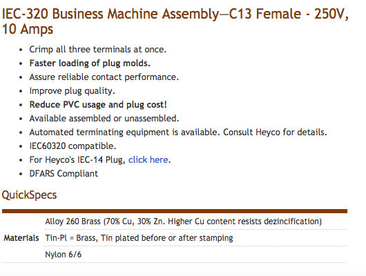 Heyco-R-_Preassembled_Cordset_Components_-_IEC-320_Business_Machine_Assembly