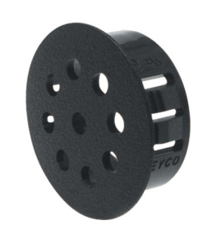 Cover caps with venting SNAP-IN Blind hole plug, polyamide