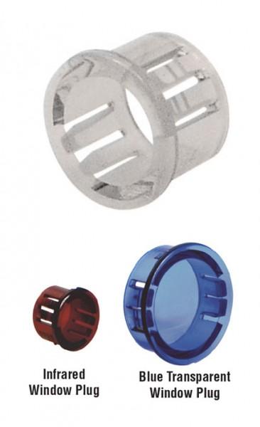Transparente Kabeldurchführungen, Kunststoffbuchsen SNAP-IN Polycarbonat, lichtdurchlässig
