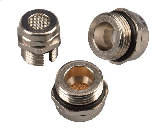Pressure compensation plugs - Cover plugs nickel-plated brass
