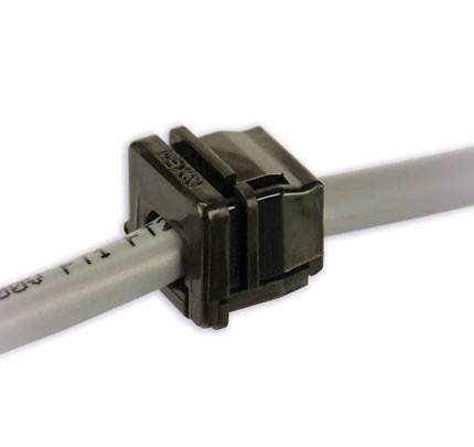 Cable strain relief for polyamide recess