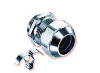 Kabelverschraubung EMC Messing vernickelt mit flexibler Kontaktvorrichtung