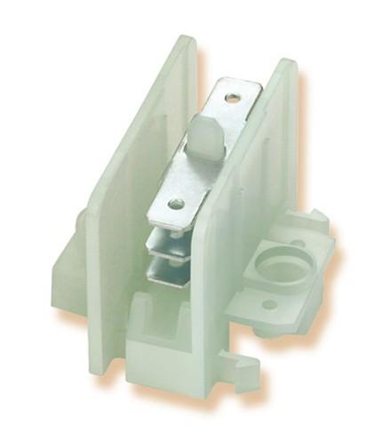 Flachsteckerverbinder, Verbinderblock Polyamid / galv. Stahl