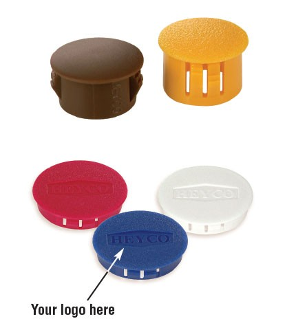 Heyco® Stock and Custom* Colors for Dome Plugs and Shorty Plugs