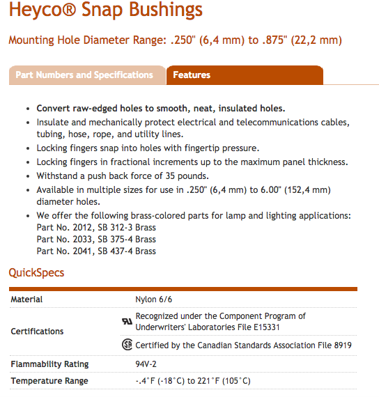 Heyco-R-_Snap_Bushings__250___6_4_mm__to__875___22_2_mm__Mounting_Hole_Diameter