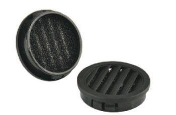 Abdeckkappen mit Lamellenentlüftung und Filtereinsatz SNAP-IN
