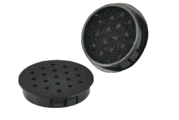Cover caps with ventilation and filter insert SNAP-IN