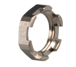 Lock nut brass nickel plated