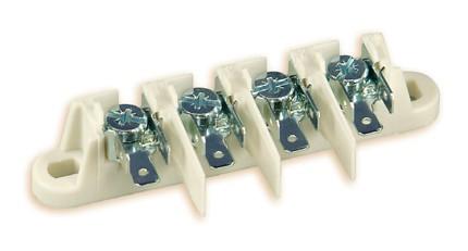 Schraubanschlussklemmen, Verbinderblock Polyamid / galv. Stahl