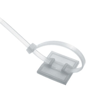 Kabelbindersockel mit Klebesockel / Montagebohrung Polyamid 66