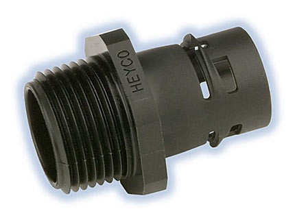 Heyco-Flex™ III Liquid Tight Fittings Straight-Thru, Snap-In and NPT Hubs