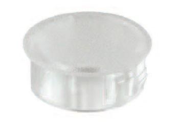 Transparent-matte Abdeckstopfen SNAP-IN Polycarbonat, lichtdurchlässig matte Ausführung