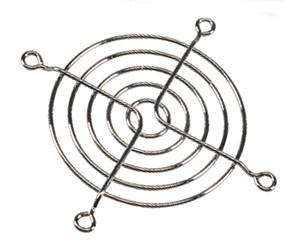 Lüftergitter, Lüfterschutzgitter Stahl, galvanisiert Nickel-Chrom
