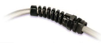 Kabelverschraubung Schnappverschluss SNAP-IN, Knickschutz, Polyamid