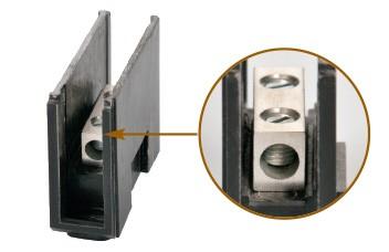Modular Spleissblock, Verbinderblock GV-Polyester / Aluminium