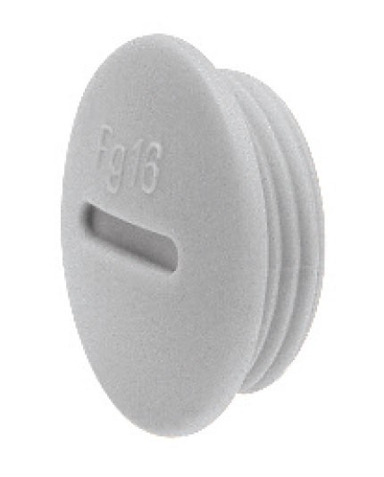 Heyco® PG and Metric Threaded Plugs Round Head with Slot Plastic