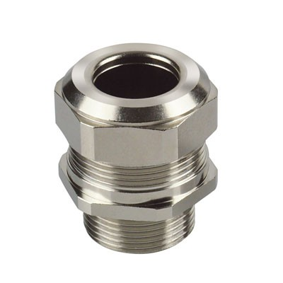 Cable gland brass nickel-plated, metric thread
